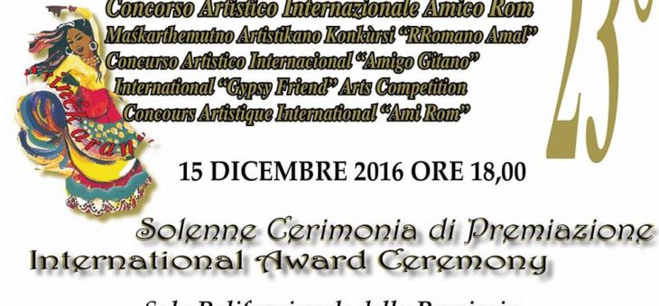 """23° Concorso Artistico Internazionale """"Amico Rom"""""""
