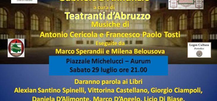 """""""Parola ai libri di Gabriele d'Annunzio"""" all'Aurum di Pescara"""