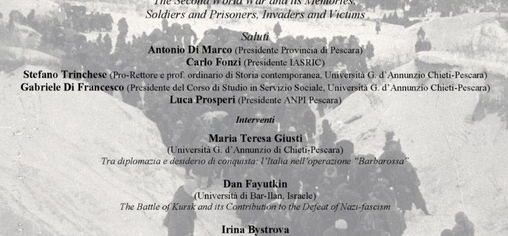 """Conferenza internazionale: """"La seconda guerra mondiale e le sue memorie: soldati e prigionieri, invasori e vittime"""""""