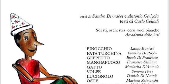 Antonio Cericola con la fiaba musicale PINOCCHIO al teatro Tosti di Ortona