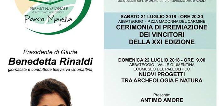 Il Premio Letterario Parco Majella 2018 ad Abbateggio