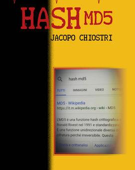 """""""Hash MD5"""": il nuovo romanzo giallo di Jacopo Chiostri"""