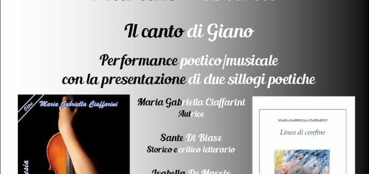 """""""Il canto di Giano"""" con Maria Gabriella Ciaffarini all'Aurum"""