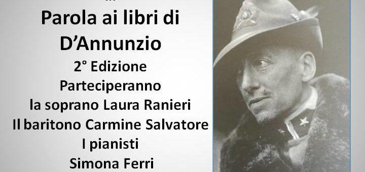 """Parola ai Libri di Gabriele d'Annunzio"" all'Aurum"