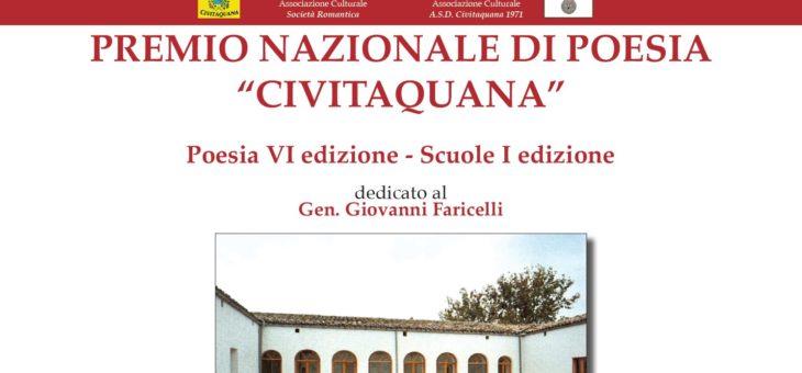Premio Letterario Nazionale Civitaquana 2018: la cerimonia