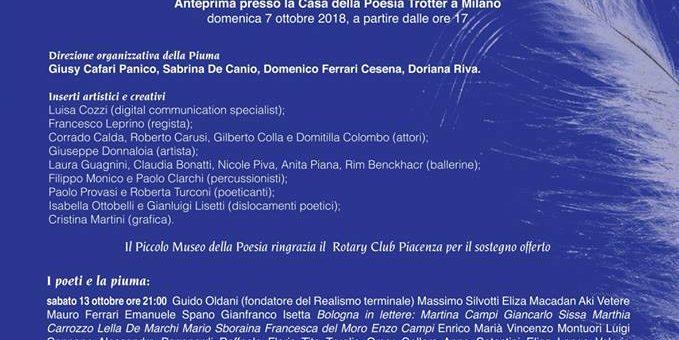 """La piuma sul baratro"": maratona poetica a Piacenza"