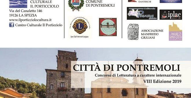 Concorso di Letteratura a carattere internazionale Città di Pontremoli 2019
