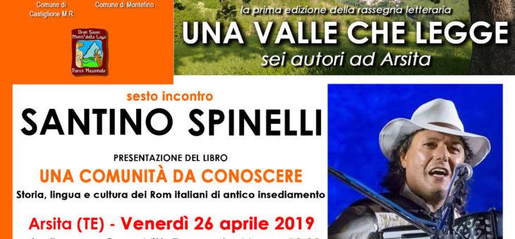 """Il nuovo libro di Alexian Santino Spinelli alla rassegna """"Una valle che legge"""" di Arsita"""