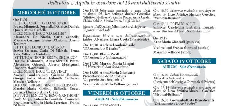 Presentata la terza edizione di Dannunziana: Premio Aligi a Simone Cristicchi