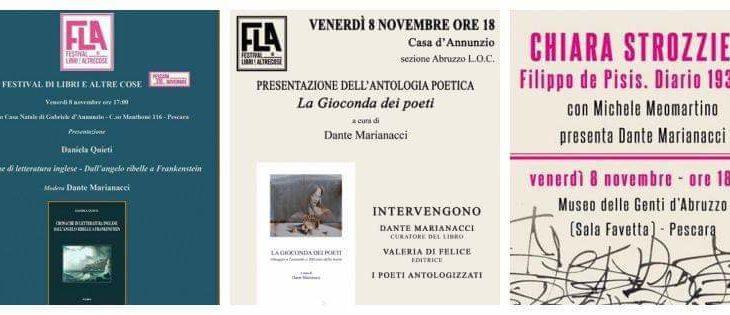 Dante Marianacci con tre libri al FLA, tra poesia, arte e letteratura inglese