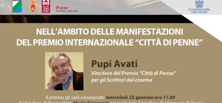 """Pupi Avati vincitore del Premio """"Città di Penne"""" per gli Scrittori dal cinema"""