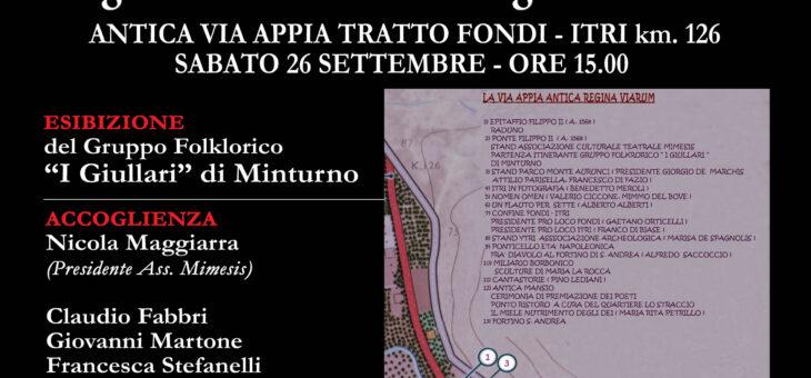 XXIII PREMIO NAZIONALE MIMESIS DI POESIA sul percorso archeologico dell'Appia Antica